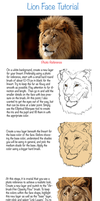 Lion Face Tutorial by oXWoLfXo