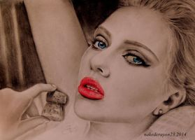 scarlett johansson drawing by nakedcrayon23