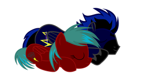 (request)  Spark Storm and Lightning Twist Napping by kuren247