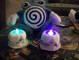 Glowing Litwick sculptures by DarkAngelLilith