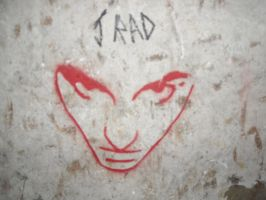 evil face stencil by realxwithswax