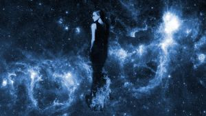 Emma Watson blue space by olgothor