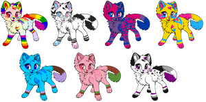 Pride Kitty Adopts! [CLOSED] by PurryProductions-Inc