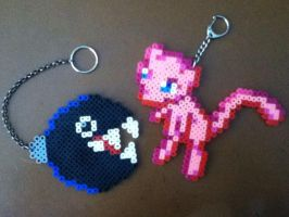 Beaded Chain Chomp and Mew by LunarSpoon