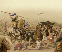 Epic Battle, Achaeans vs Trojans by Panaiotis