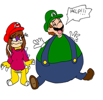 Inflated Luigi by Aso-Designer