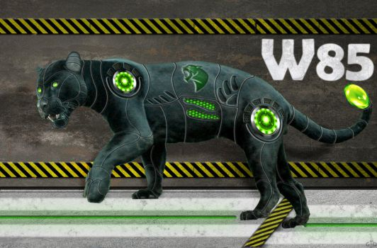 Cyborg Panther by Groltard