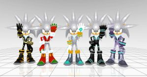 Silver costumes from Sonic rivals 2 by JJpros