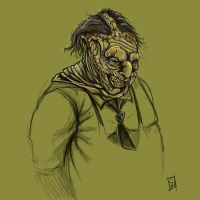 Leatherface sketch by ColePeterson