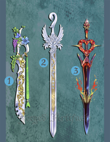 Weapon Adoption 16 Elemental themed Swords CLOSED by Forged-Artifacts