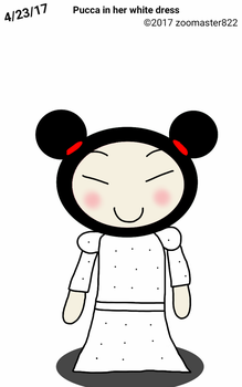 Pucca in her white dress by zoomaster822