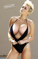 Miley Cyrus - Big boobs (Request) by xmasterdavid