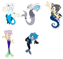 ~Mercreatures Adopts~ by ChibiChibiWoofWoof