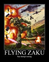 Flying Zaku by Johnny-E