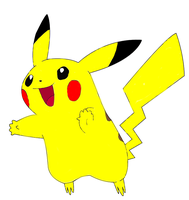 Pikachu Lineart by sasorilover01