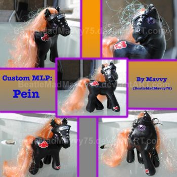 Custom My Little Pony: Pein by BeatleMadMavvy75
