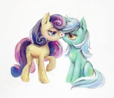 Bon Bon x Lyra by son-trava