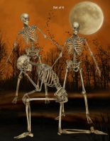Skeletons by oldhippieart