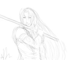 Sephiroth - WIP by Sango94
