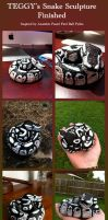 Snake Sculpture Finished by Teggy