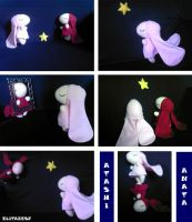 Atashi and Anata plushies by Elitazesf