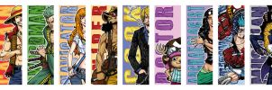 One Piece - Bookmarks by ElectroCereal