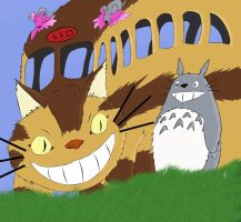 My neighbor Totoro by Stairwaytoelle