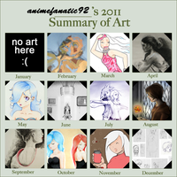 Summary of 2011 Artwork by AtticCreationz2