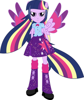 Rainbowfied Twilight Sparkle by illumnious