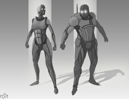 Sci-fi Armor concepts by ToNiki