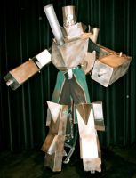 Cardboard robot suit by Spirogs