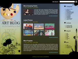 Web Layout: Art Blog by RIPpler