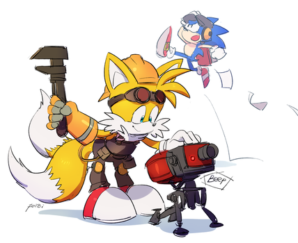 Engineer Tails by PoroiSasaki