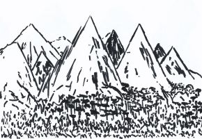 Mountains Doodle by Kursura