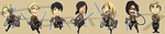 Stickers: Attack on Titan Set 2 by forte-girl7