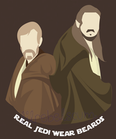 Real Jedi Wear Beards Shirt Design by lilrebelscum