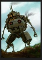 old metal robot by Kai-E-soh