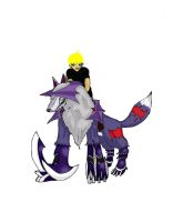 Digimon+: Mysterious guy and Sangloupmon by Kyo3