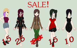SALE  [Closed] by Kat-and-Raven-ADOPTS