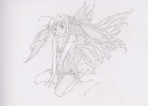 Sketch: Forest Fairy by LuisaVFM