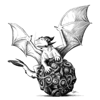 Dragon on Sphere by Shirder