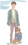 father and son by hiraco