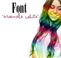"font ""arsenale white"" by fontsworld"