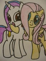 Topaz and Fluttershy Hugging!!! by TopazBeats