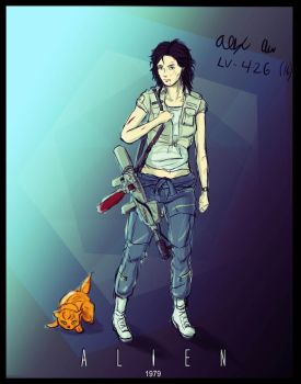 4-26-2016- Ellen Ripley by Goldencard