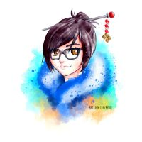 Mei - Brush Experiment by Herr-Pekoe