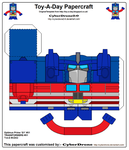 Toy-A-Day CD02 - Optimus Prime 'G1' Papercraft by CyberDrone2-0