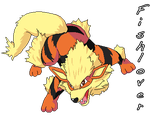 Arcanine Pixel by Fishlover