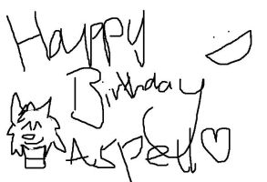 Happy Bday Aspell 1 by XxBlackpantherxX
