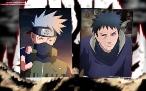Kakashi vs Obito Wallpaper by weissdrum